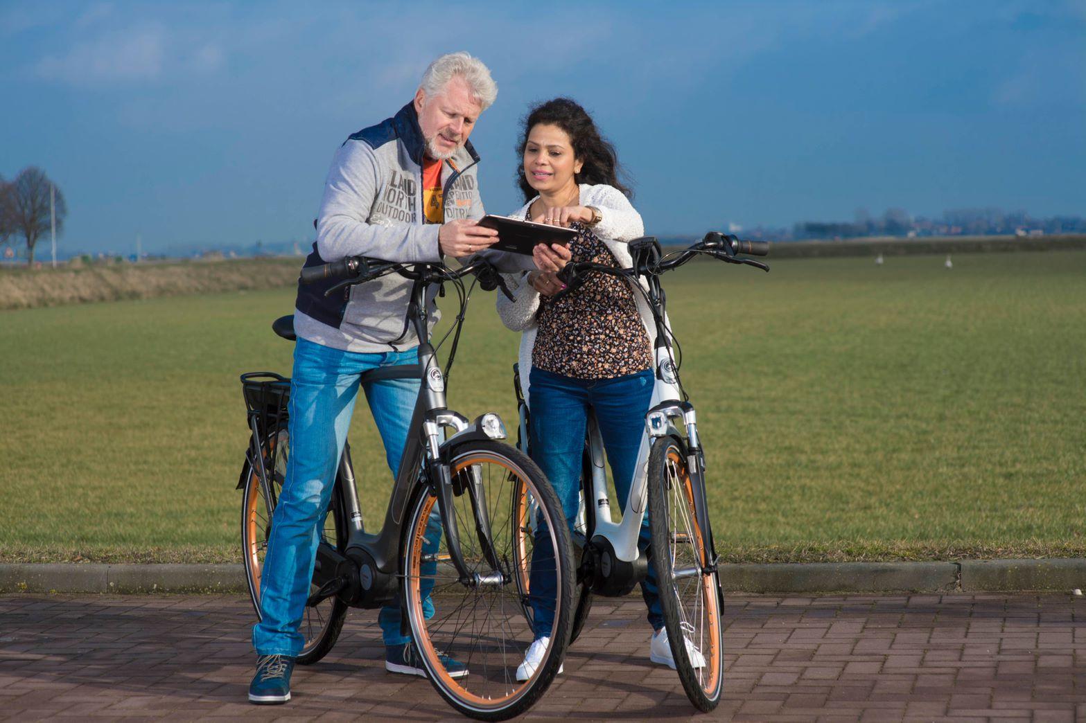 Trainen met de e-bike. (Foto: aangeleverd)