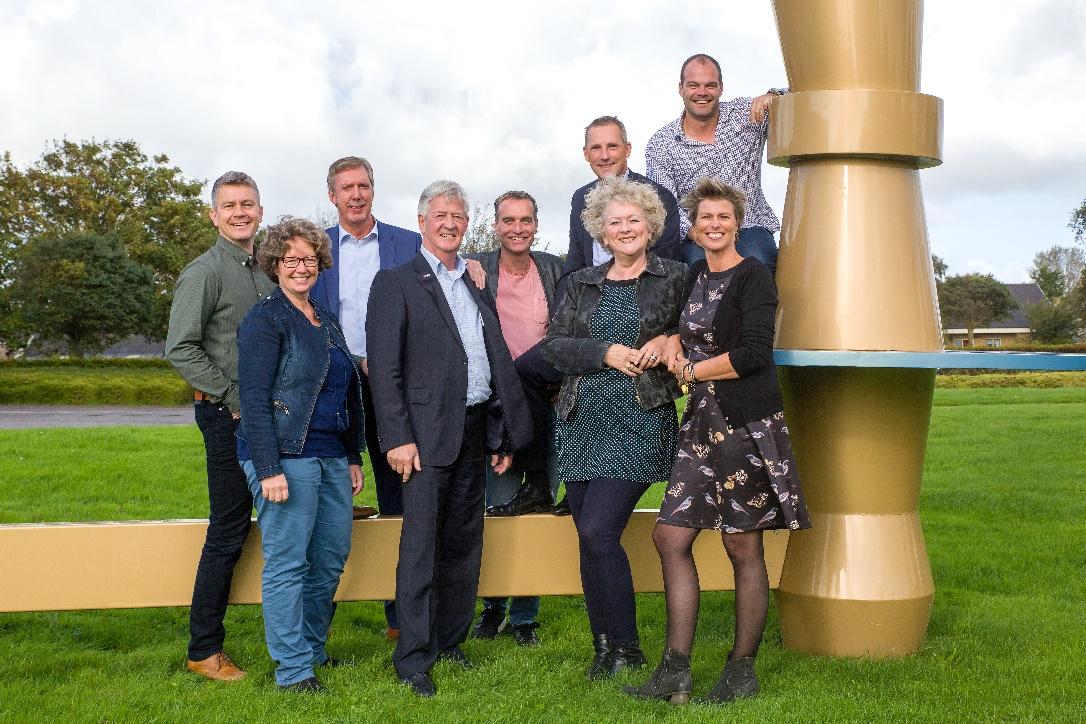 De matchgroep van de Schager Uitdaging; verantwoordelijk voor de organisatie van de beursvloer. (Foto: Jolanda Jacobs)