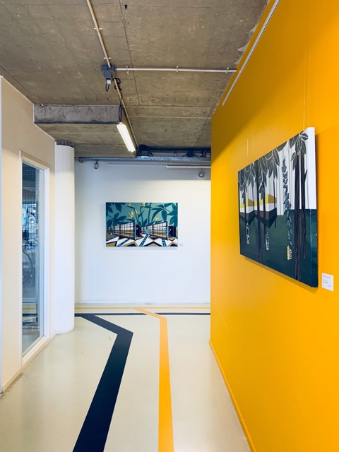 In totaal twintig werken van Bonnie Severien hangen in De TelefoonCentrale. (Foto: aangeleverd)