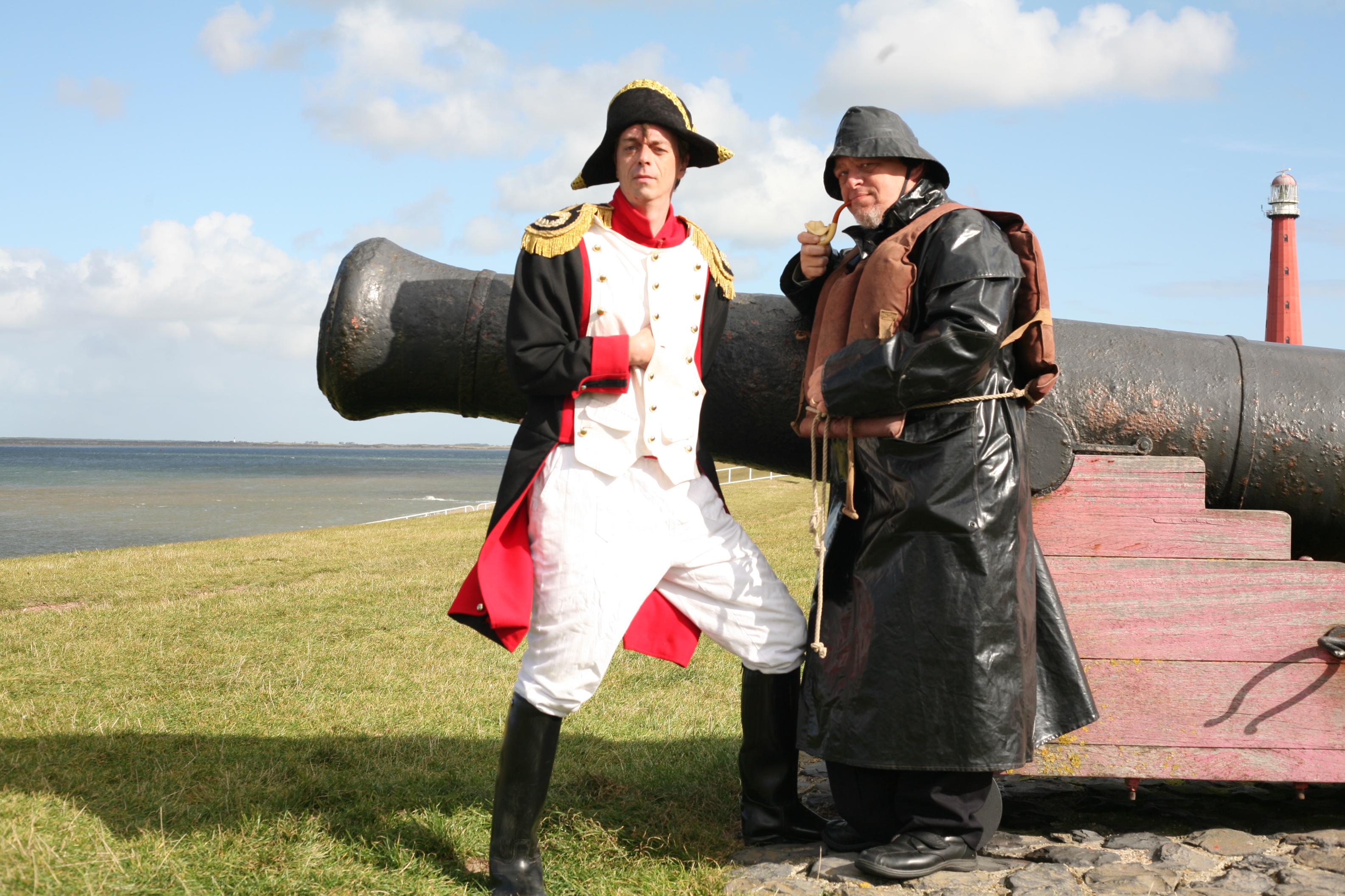 Napoleon en Dorus Rijkers hebben een belangrijke rol in de geschiedenis van Den Helder gespeeld. (Foto: aangeleverd)