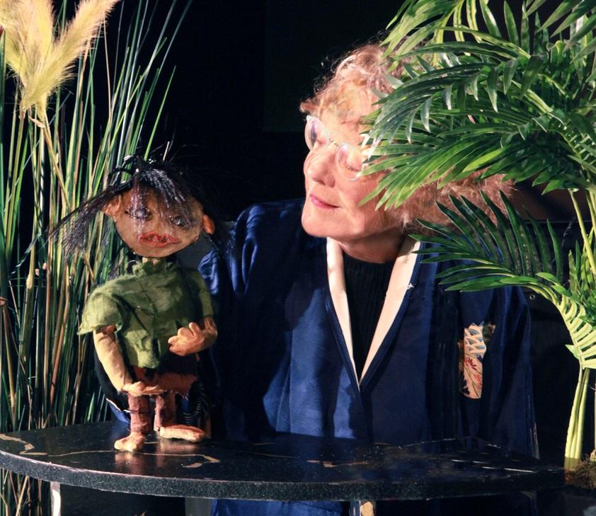 Ella in bamboebos met Akiko. (Foto: aangeleverd)