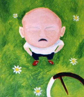 Door overvloedig kleurgebruik hebben de schilderijen van Danilo iets weg van kindertekeningen waarin de toeschouwer zijn eigen rol speelt. (Foto: aangeleverd)