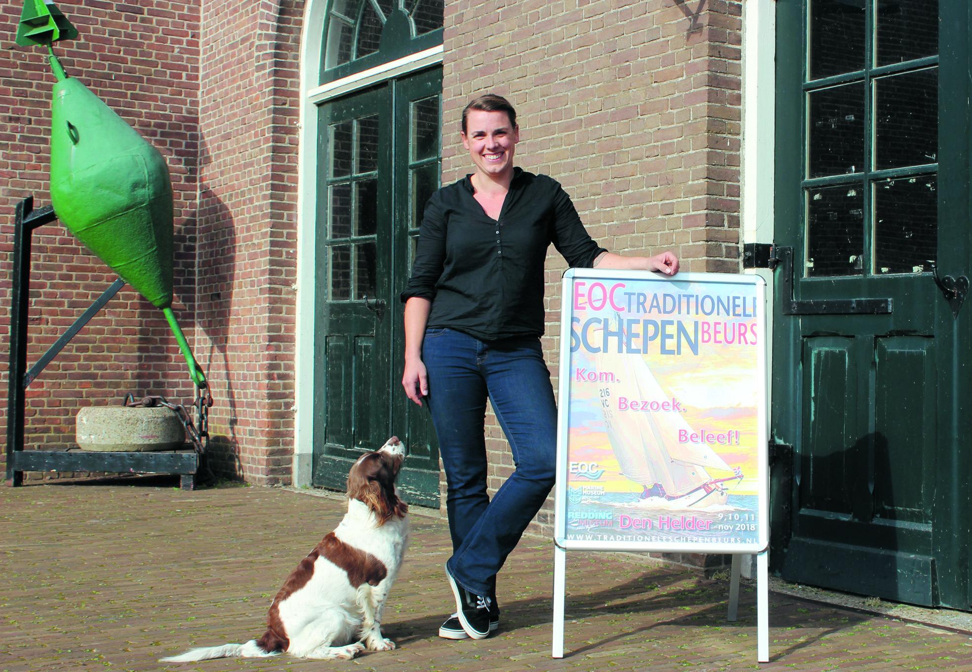 Beursmanager Jet Sluik van de EOC-Traditionele Schepen Beurs. ( Foto: Paul Schaap)