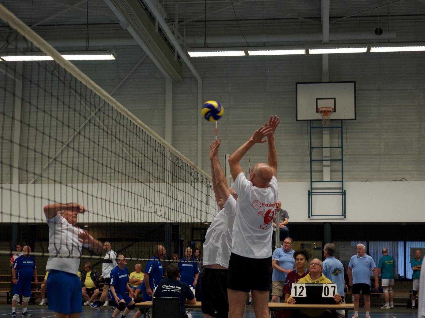 De (ex)hartpatiënten volleyballen. (Foto: aangeleverd)