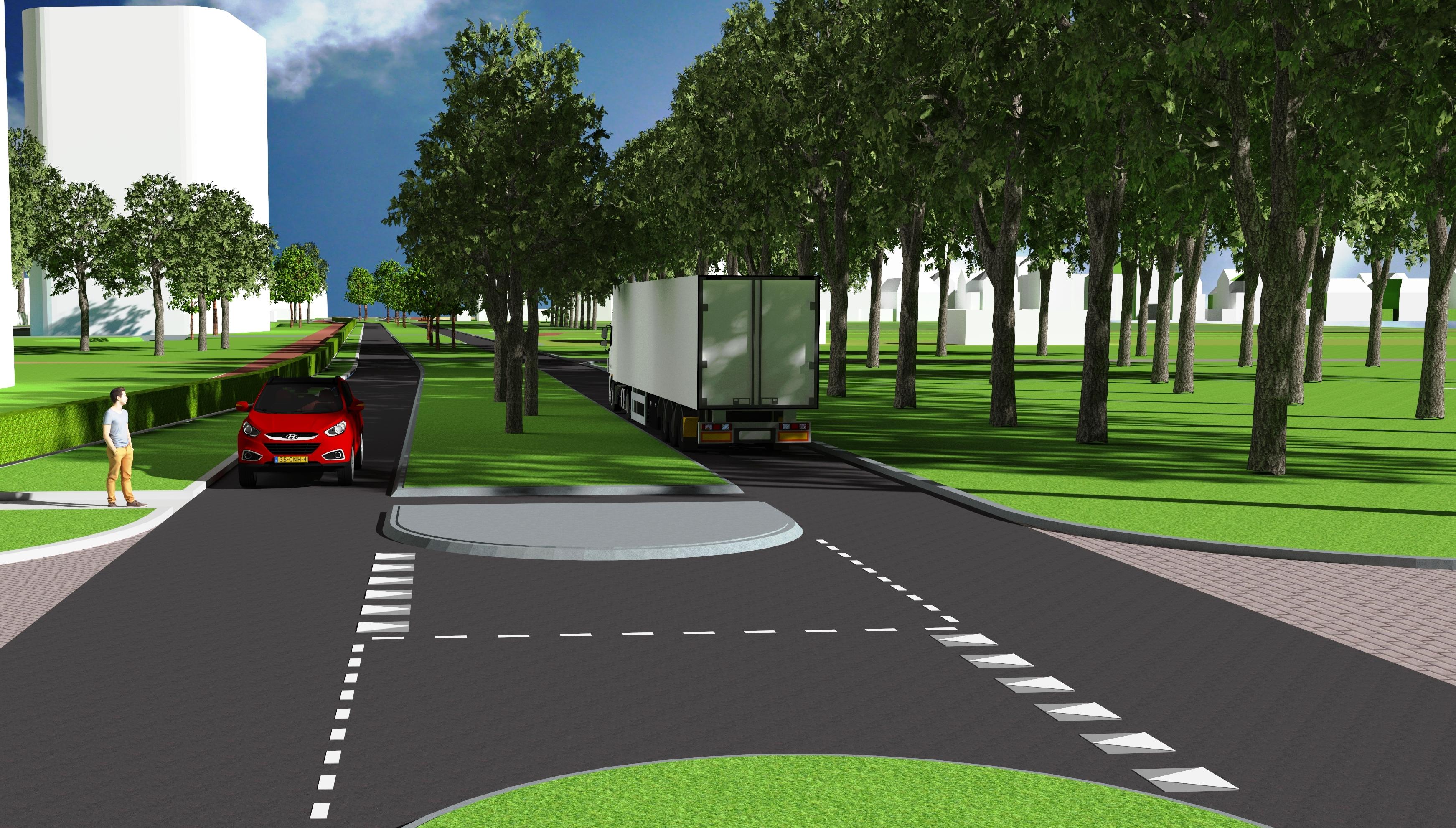 Zo komt de nieuwe Tolweg over een jaar uit te zien. (foto aangeleverd)