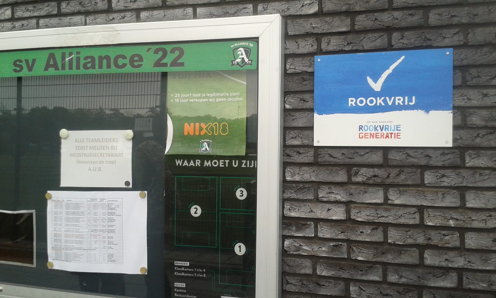 Alliance is de eerste Haarlemse sportvereniging waar niet meer gerookt mag worden. (Foto: PR)