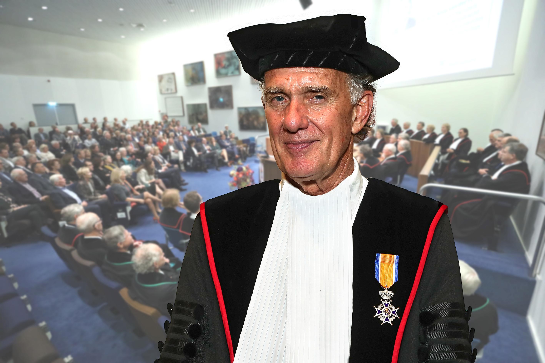Benoemd tot Ridder in de Orde van Oranje-Nassau. (Foto:Theo Hafmans)