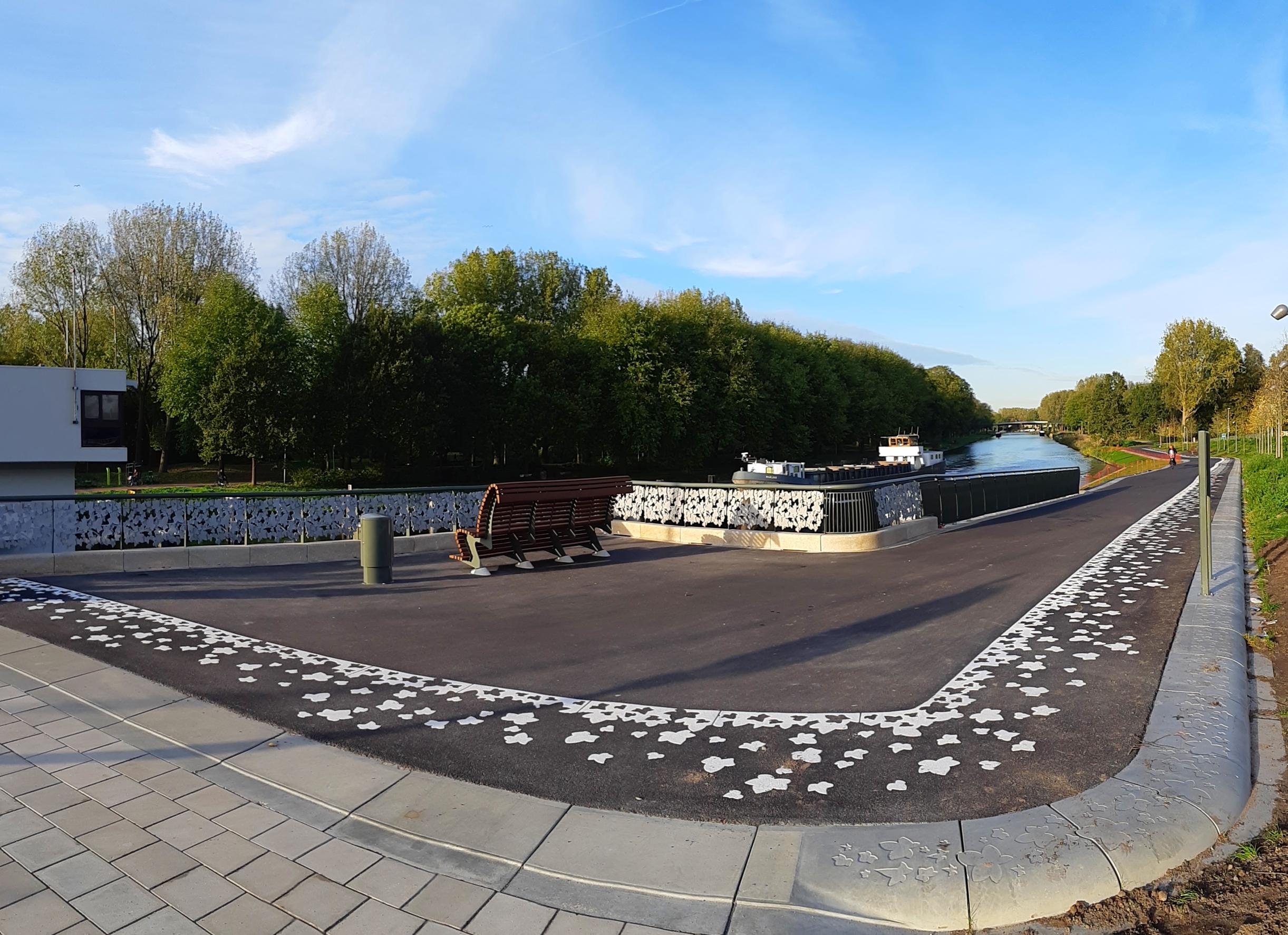 De nieuwe parkentree in het Noorderpark. (Foto: aangeleverd)