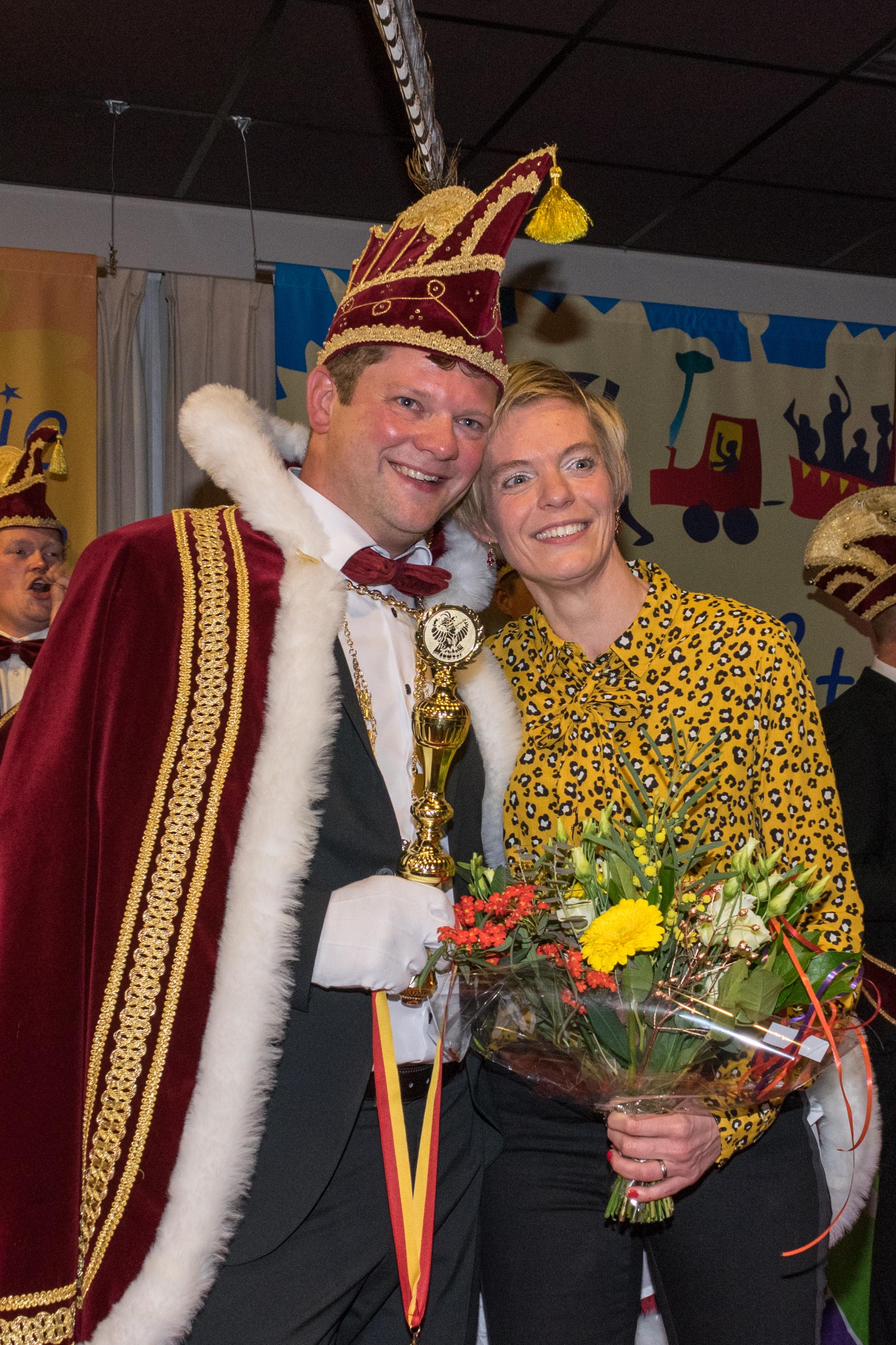 Ruud Bijl (prins Vicinus) en zijn Yvette. (Foto: aangeleverd)