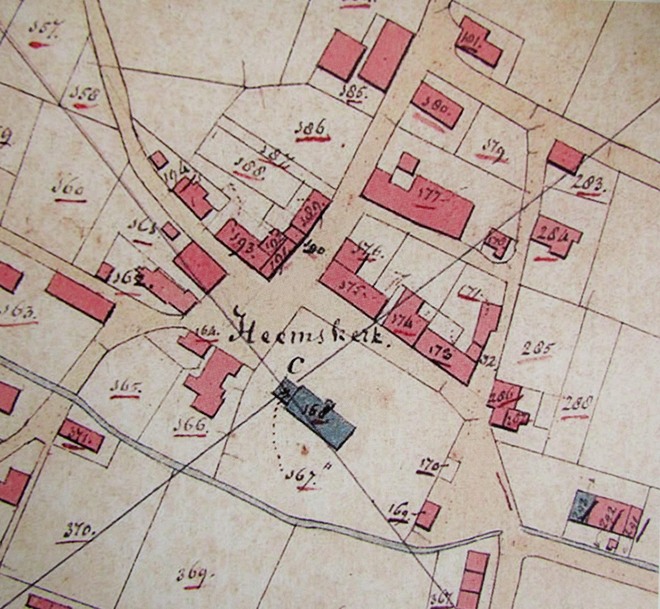 Een oude landkaart van Heemskerk. (FOTO: AANGELEVERD)