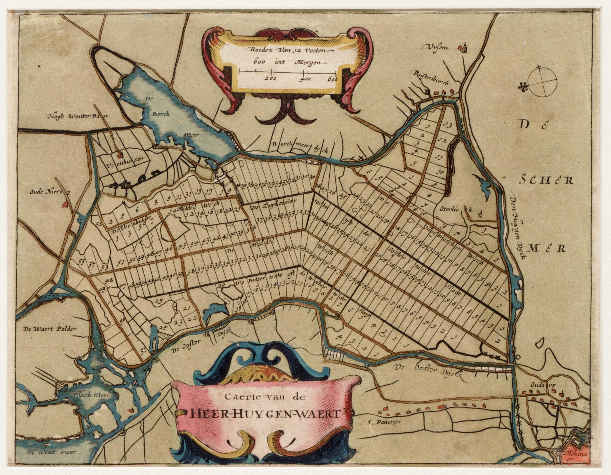 Historische kaart van Heerhugowaard. (Foto: aangeleverd)