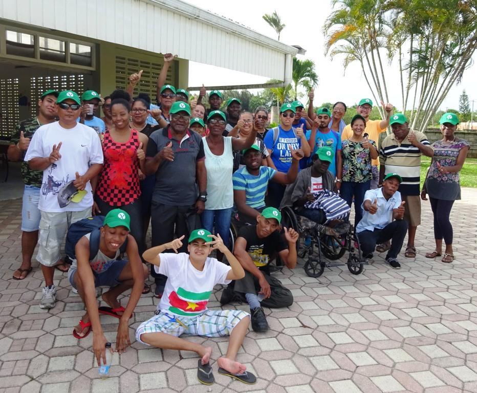De sociale werkplaats in Paramaribo vierde deze maand een feestje vanwege het vijftienjarig bestaan van Unu Pikin. (Foto: aangeleverd)