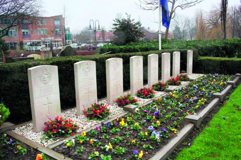 Herdenking omgekomen vliegers Lancaster