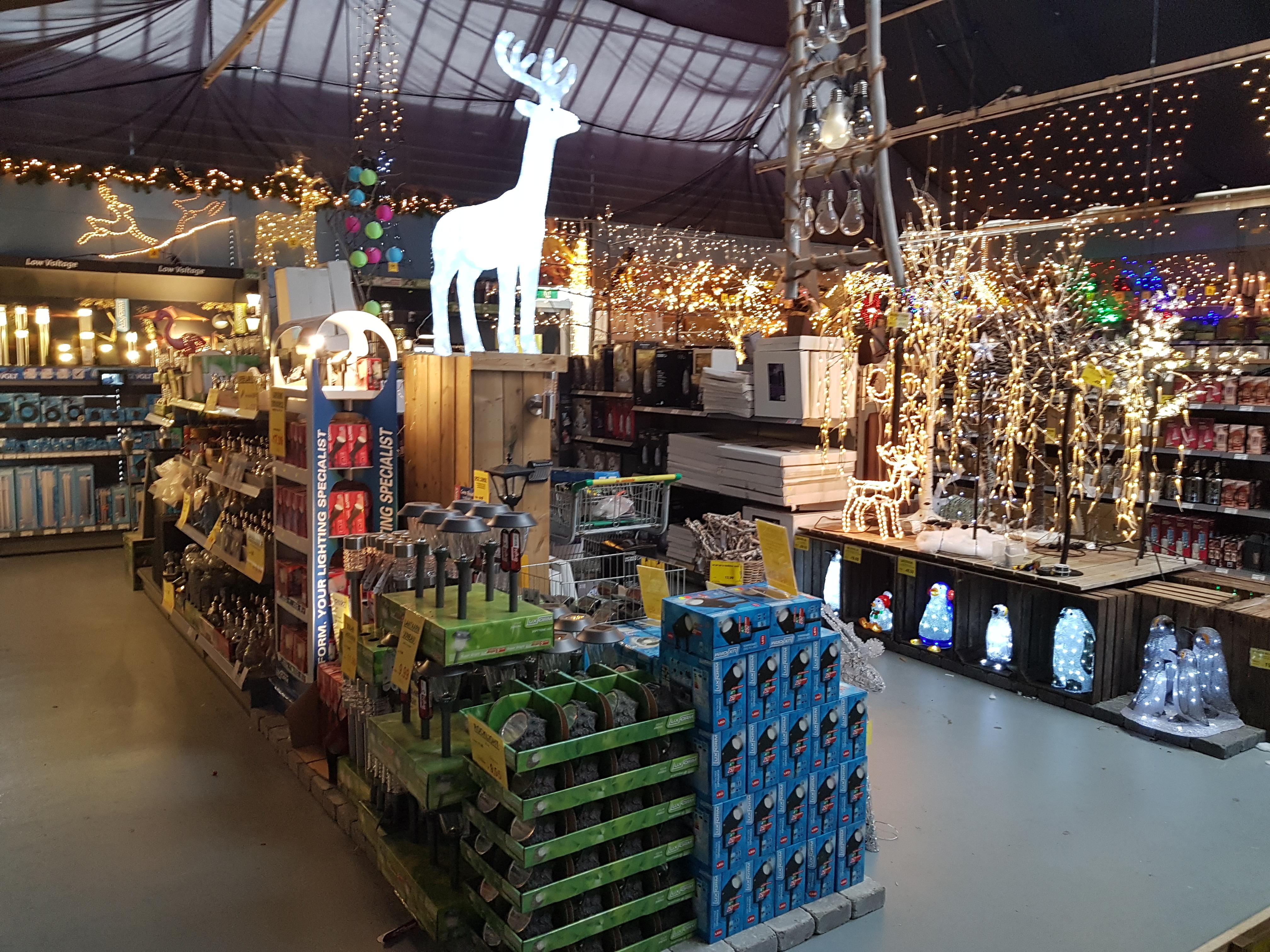 Het kerstassortiment in Tuincentrum de Oosteinde is bijzonder breed. (foto Rodi Media)