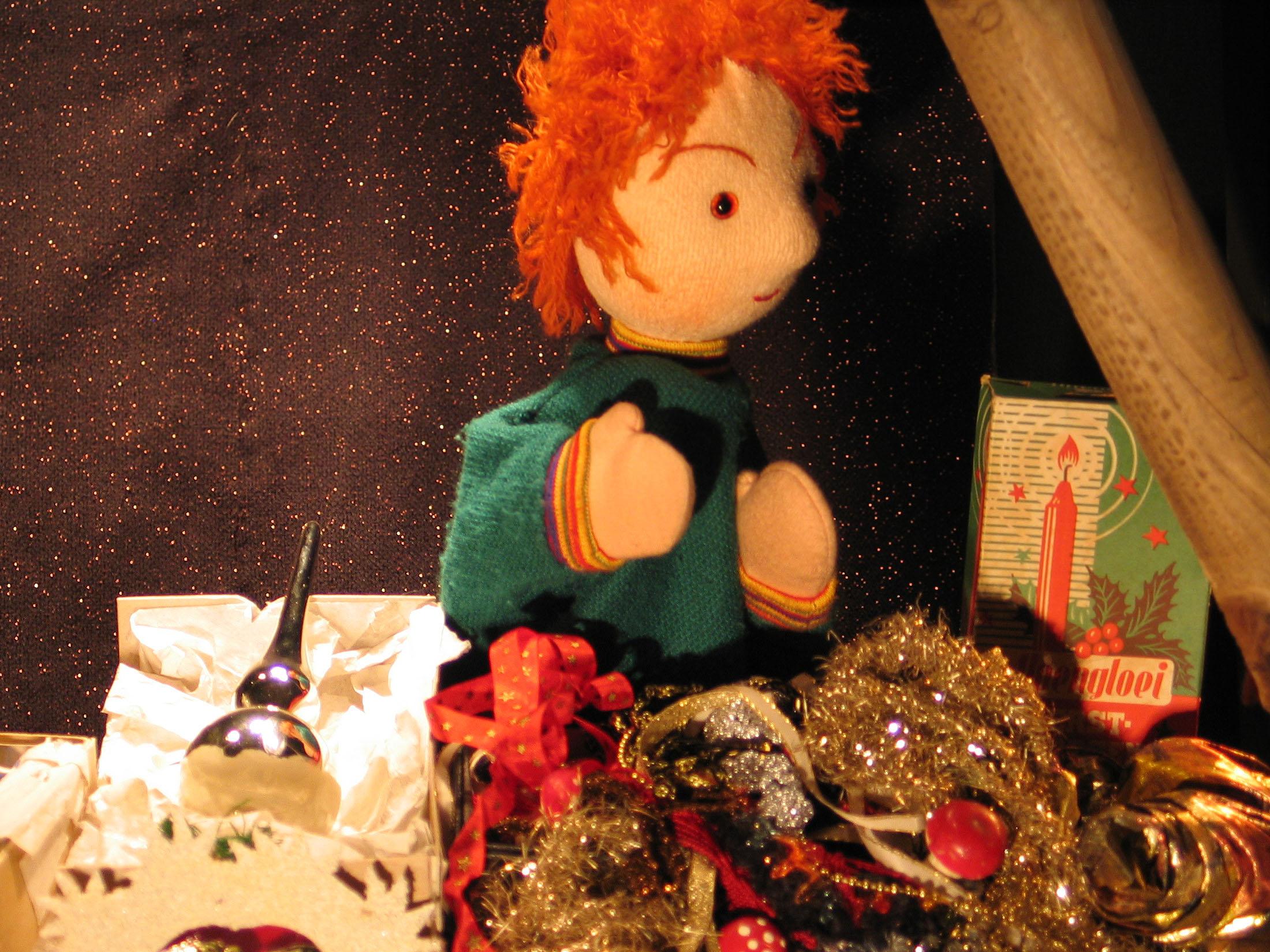 Bij Poppentheater Bergen wordt ieder jaar traditioneel 'Het Kerstengeltje' opgevoerd. (foto: Aangeleverd)