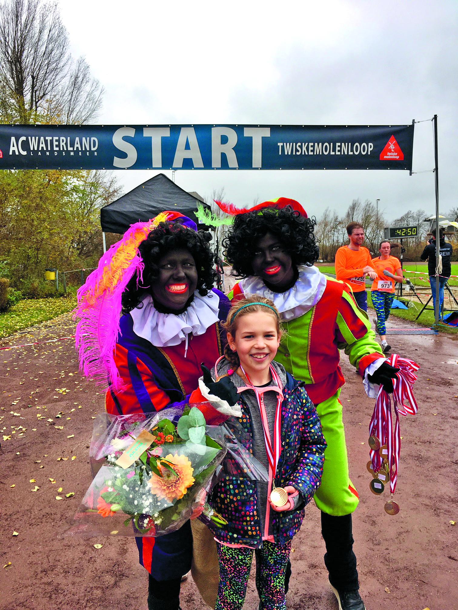 Maroh van der Hout was het snelste meisje op de 1,5 kilometer. (Foto: aangeleverd)