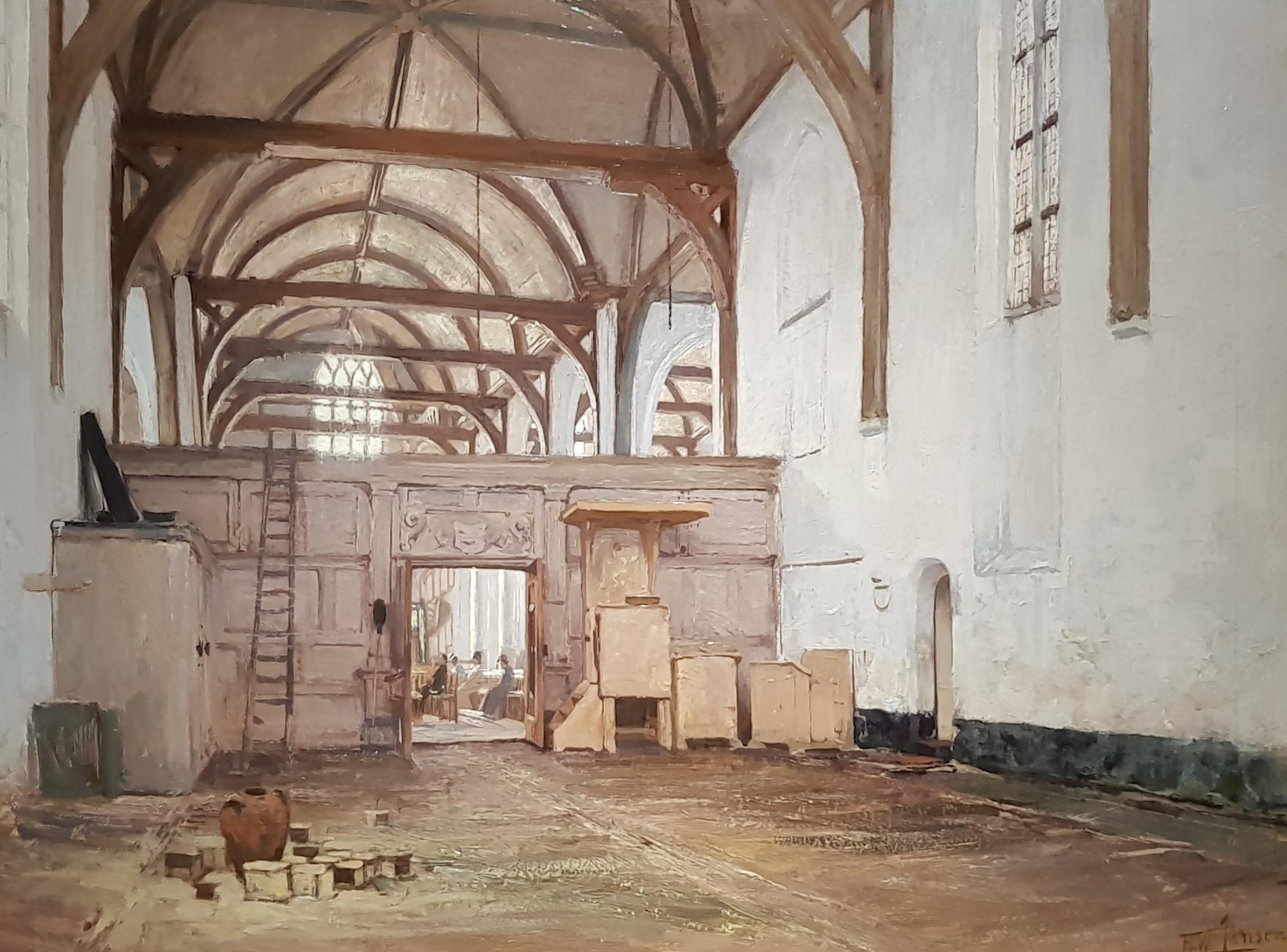 'Interieur van de Noorderkerk te Hoorn' door Hendrik Willebrord Jansen. (Foto: Westfries Museum)