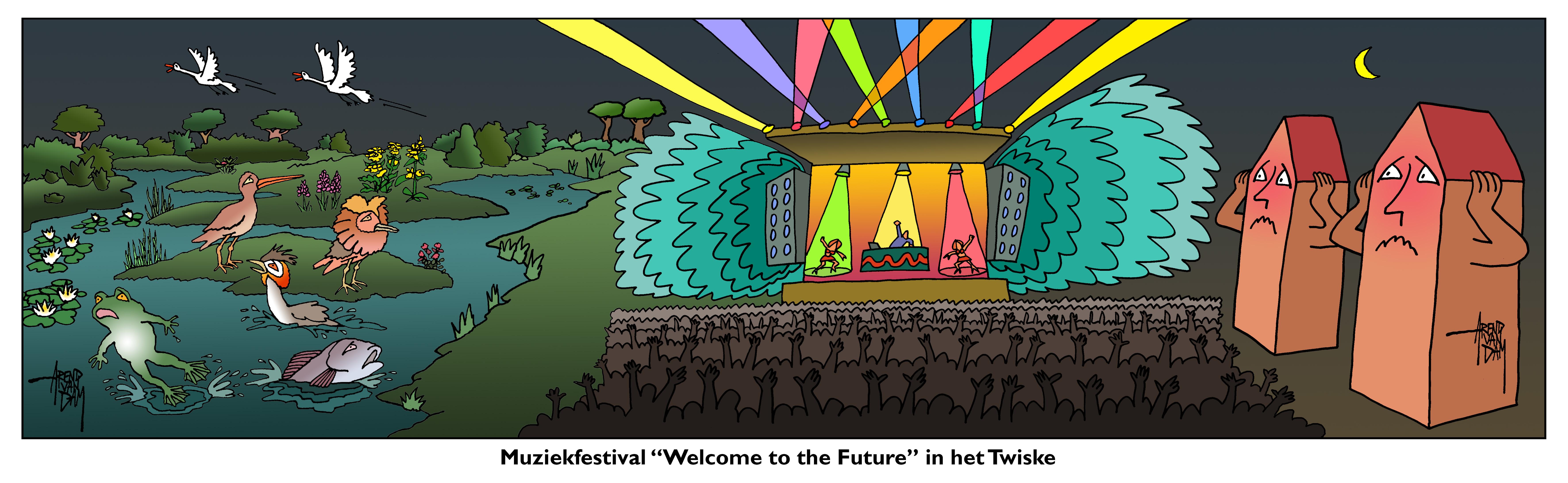 Festival in het Twiske