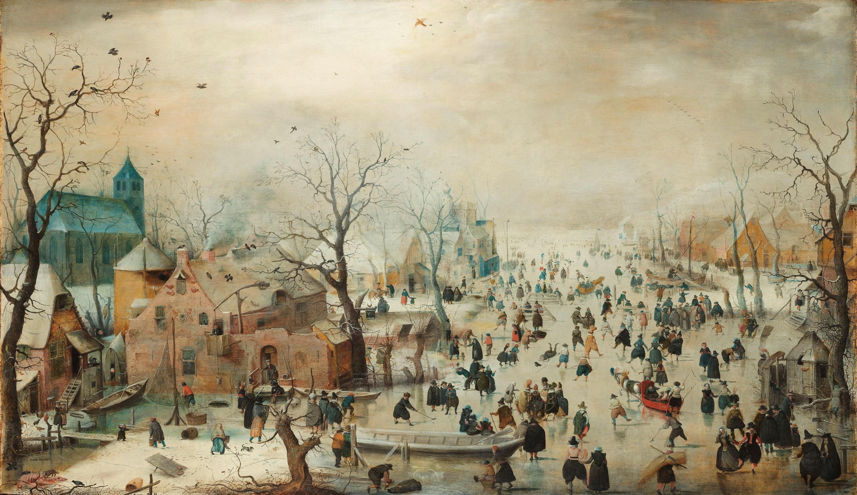 Een winterlandschap van de zeventiende-eeuwse schilder Hendrick Avercamp. (Foto: aangeleverd)