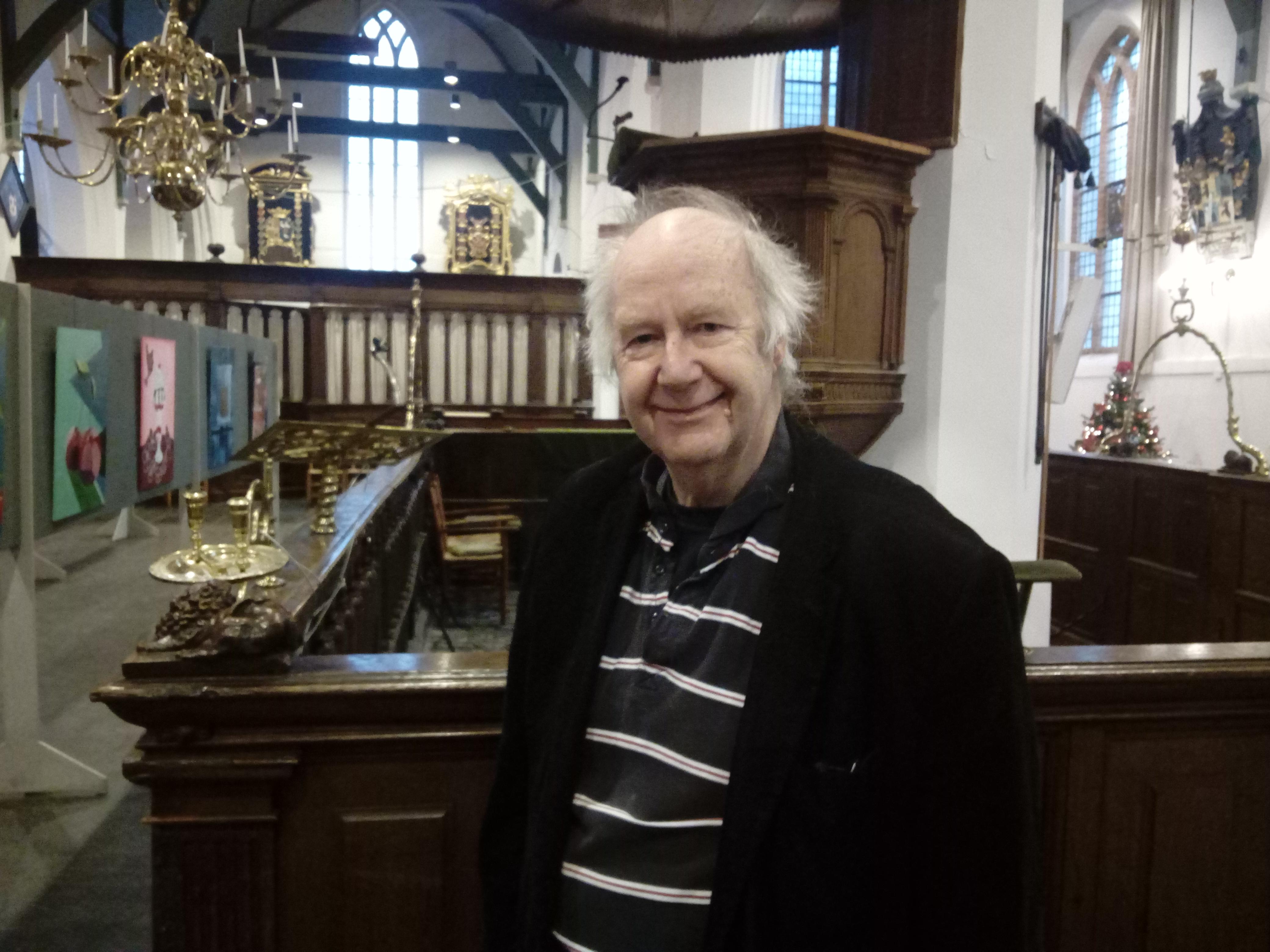 Bert Kisjes in de Grote Kerk, het gebouw van en voor alle Beverwijkers. (Foto: Bos Media Services)