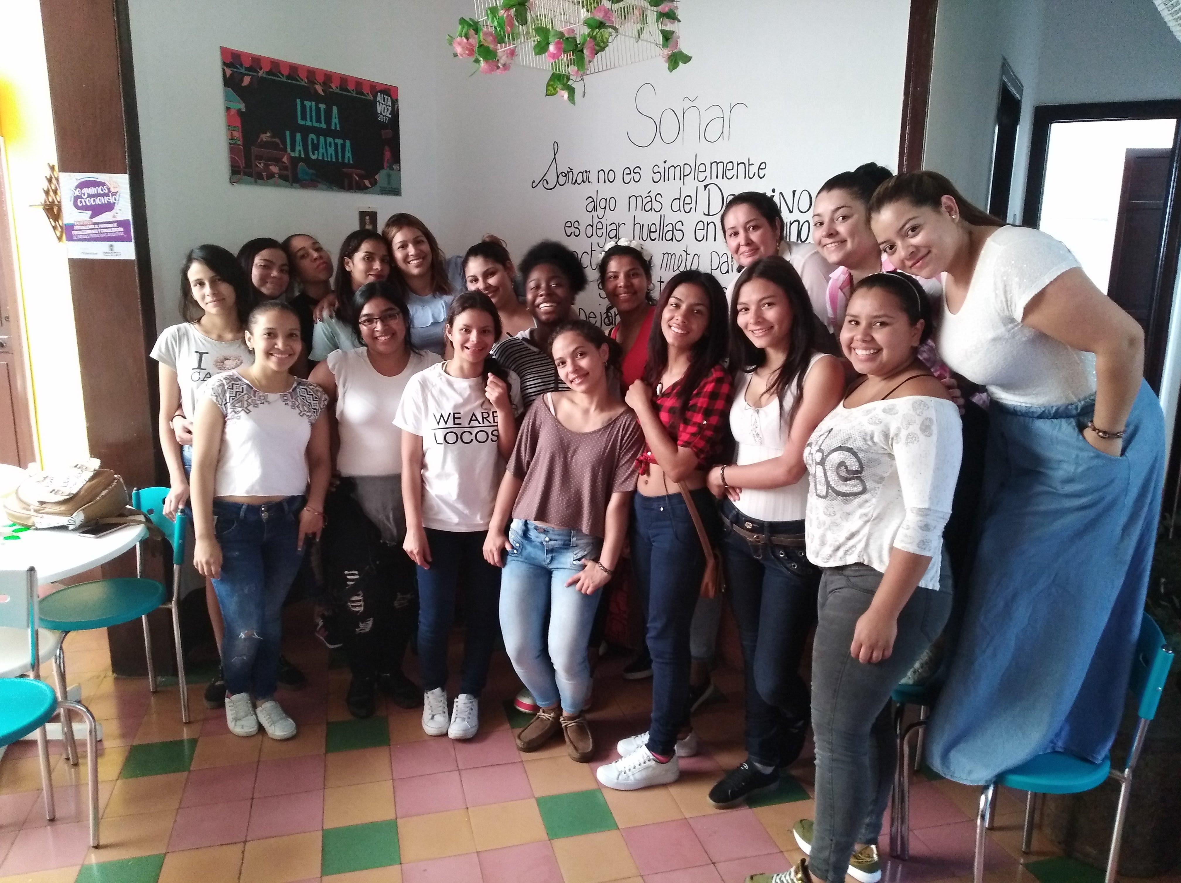Deelnemers aan het programma van Amigos Colombianos. (Foto: Frank van Rijn)