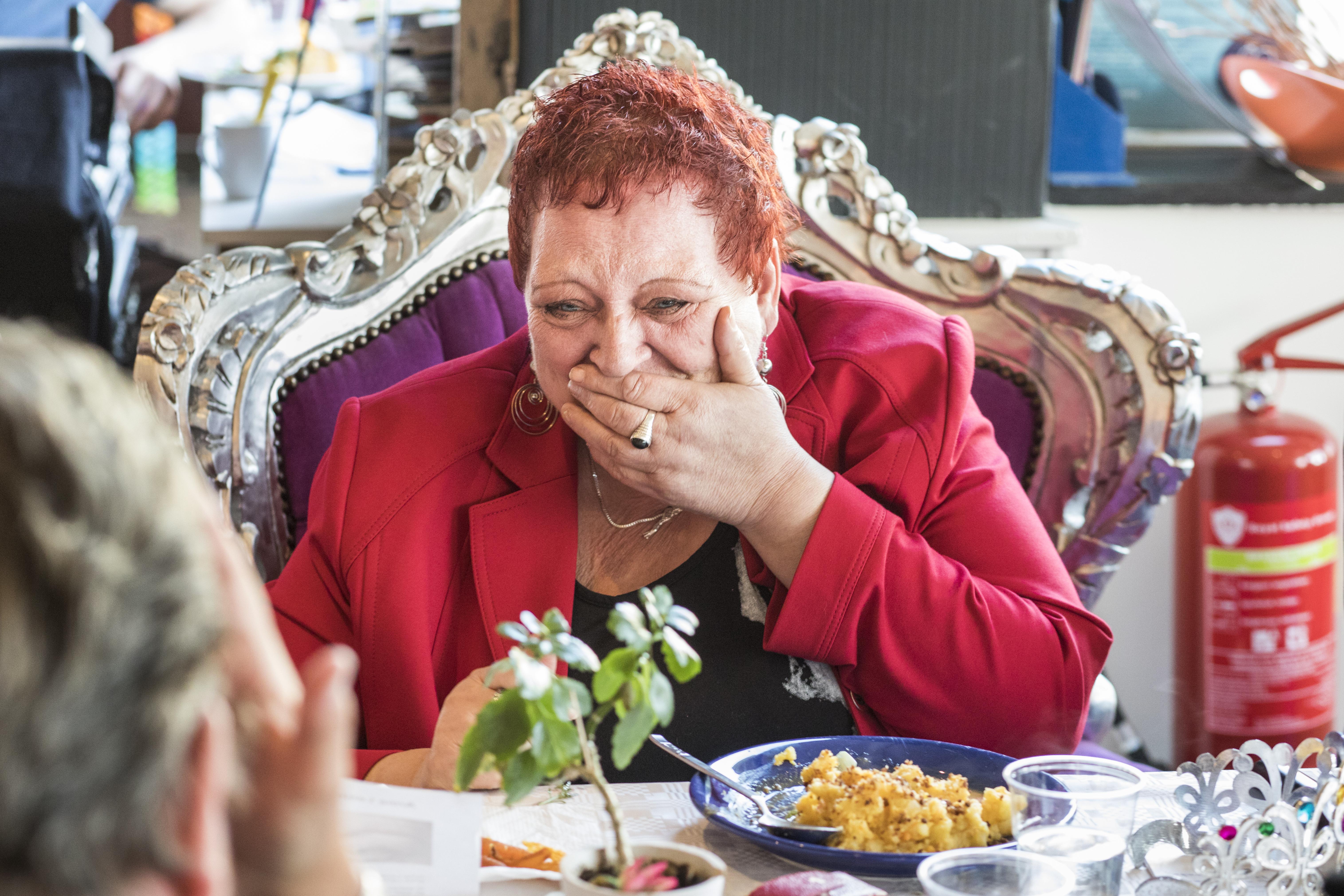 De Koningin van de Voedselbank. (Foto: Marlise Steeman)