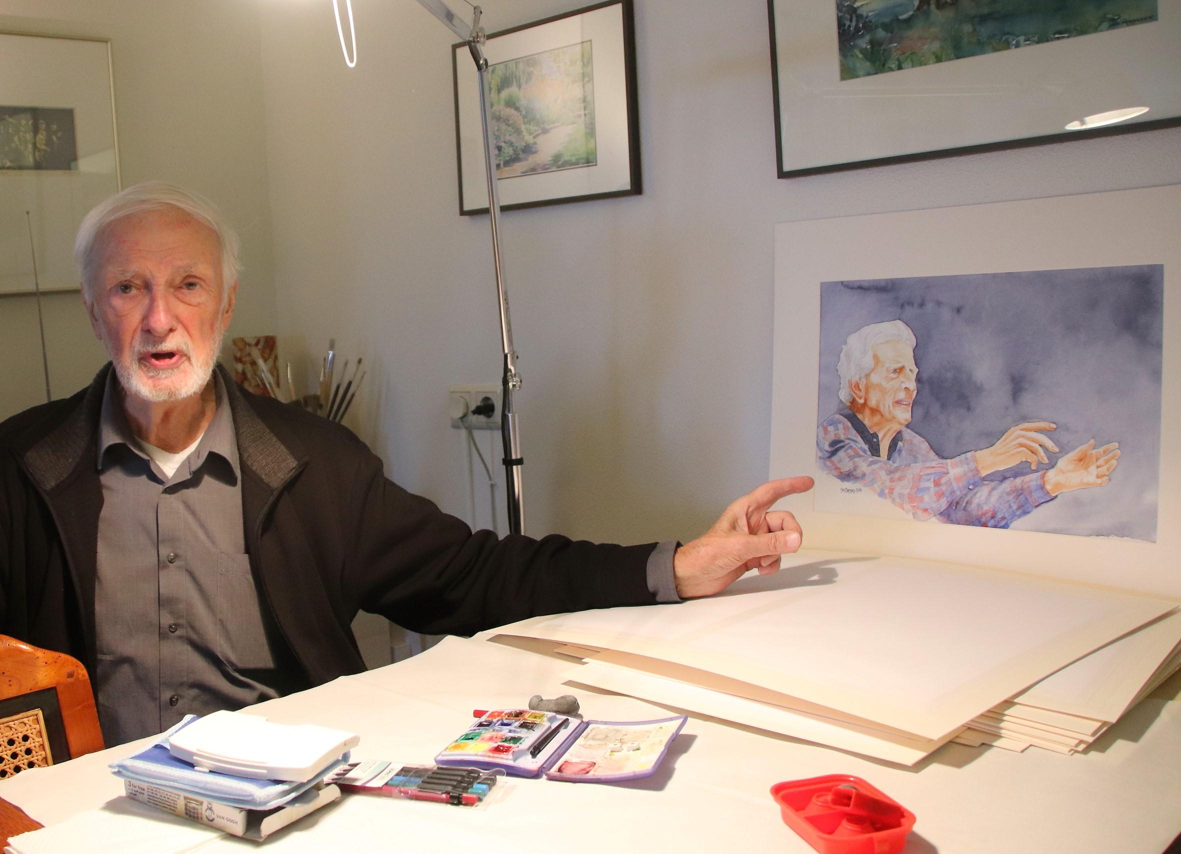 Jan Larsen creëert dagelijks zijn eigen geluksmomentjes (Foto: Willem Brand)