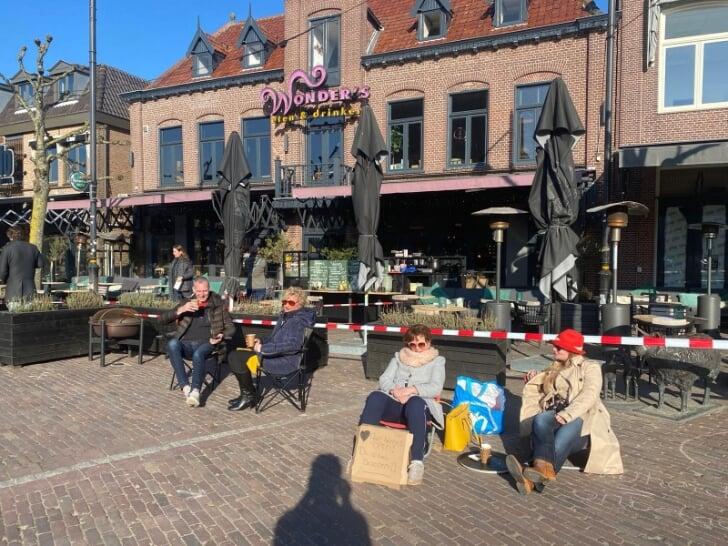 terrassen Schagen protestactie corona