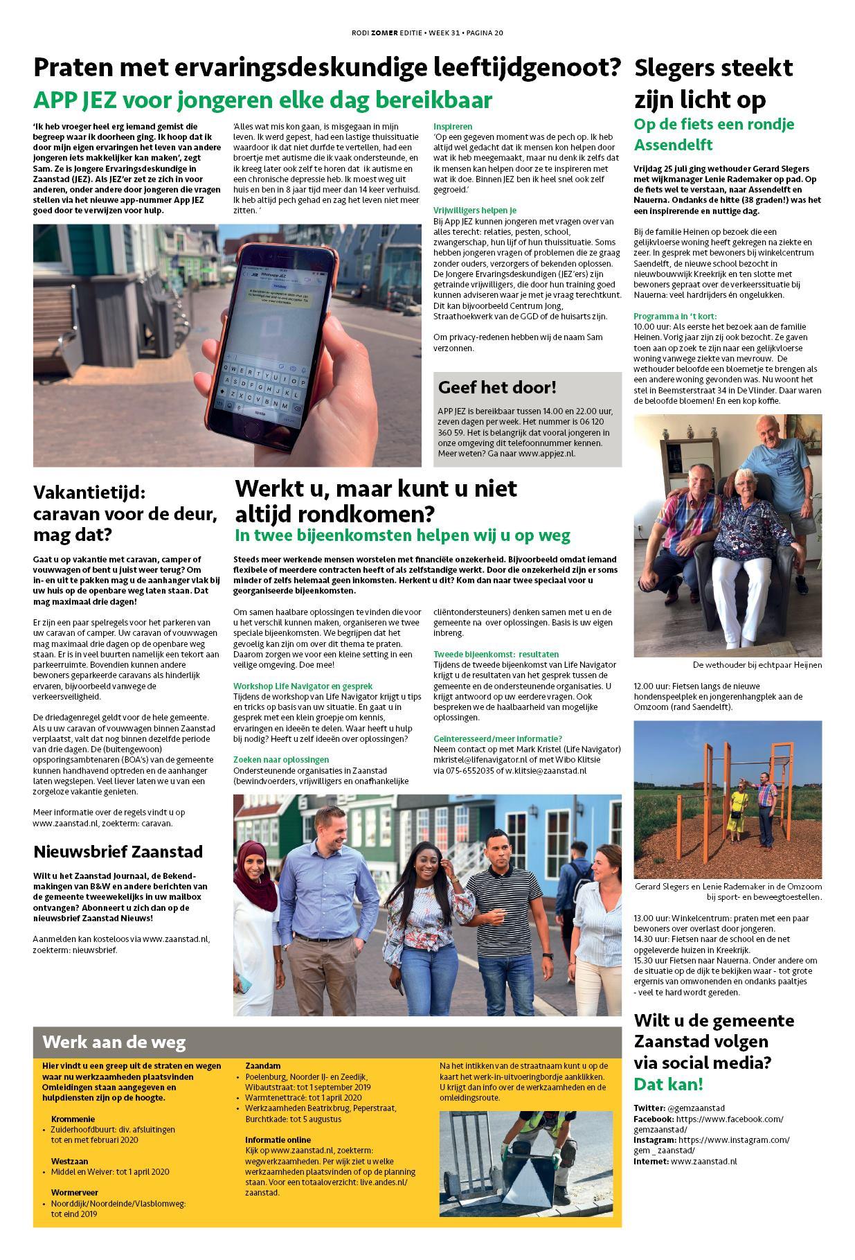 b22acacafd7 Zaans Stadsblad 1 augustus 2019