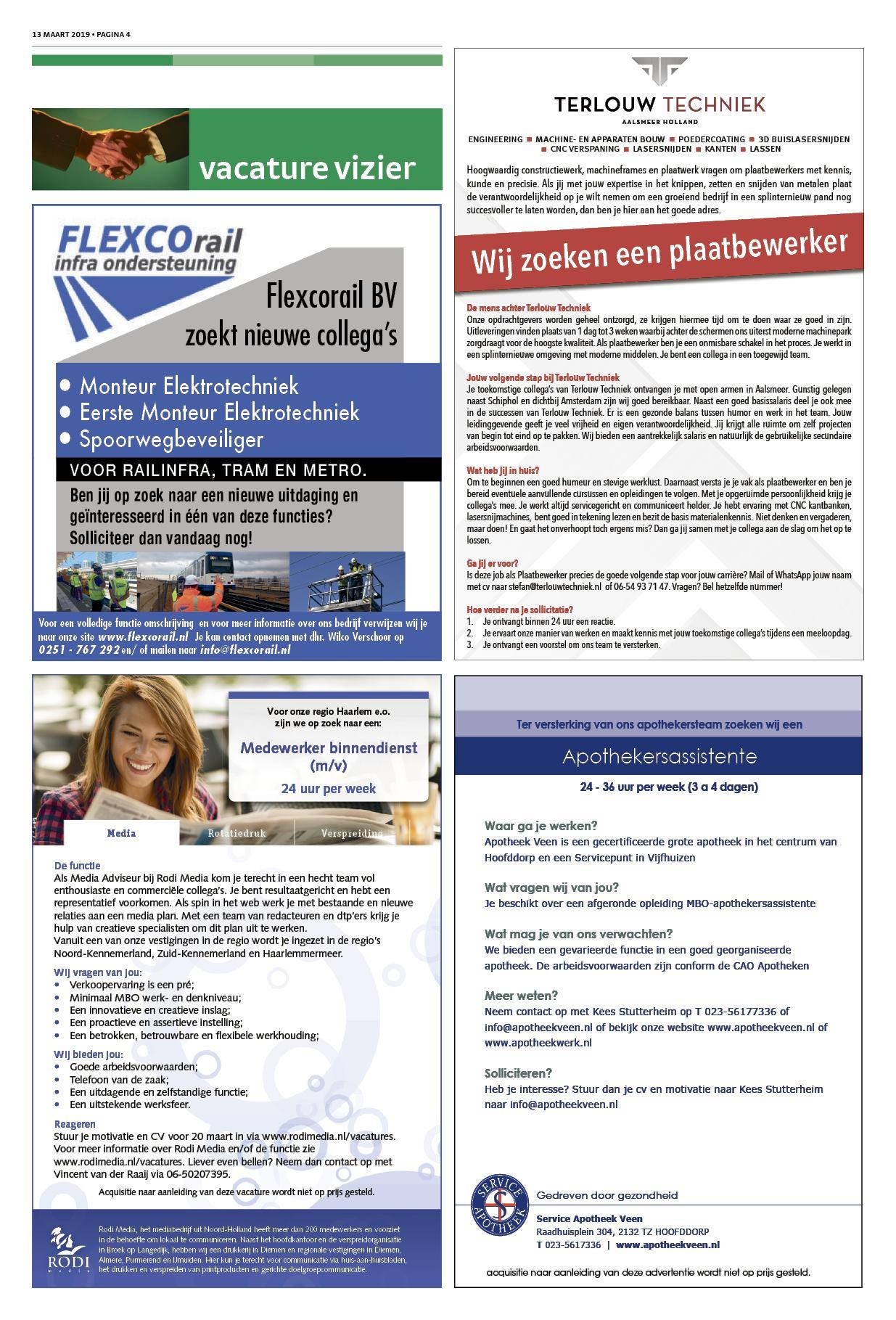 Nieuwsblad Haarlemmermeer 13 maart 2019