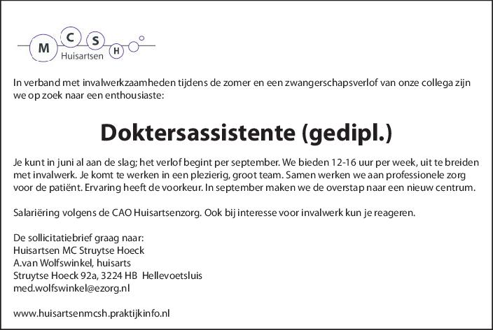sollicitatiebrief huisarts GrootHellevoet.nl   Vacature Doktersassistente sollicitatiebrief huisarts