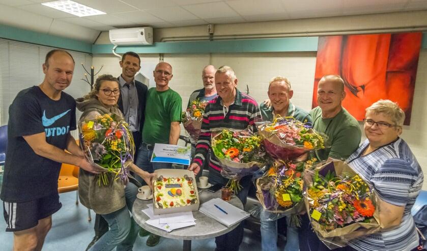 Welverdiende felicitaties voor de enthousiaste vrijwilligers van De Haveling.