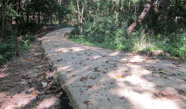 Het wandelpad met een laag asfalt tussen de Eerste en Tweede Slag in de duinen in Rockanje houdt de Westvoornse politiek bezig