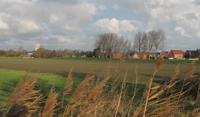 Oude Goote, een van de laatste grote woninbouwlocaties in Brielle,  gezien vanaf de Veckdijk. In 2007 werden hier 500 huizen gepland.