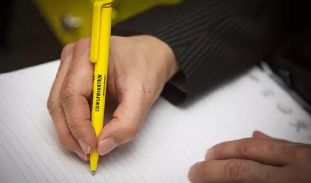 Tijdens de Schrijfmarathon van vorig jaar werd in Nederland een recordaantal van 166.000 brieven geschreven