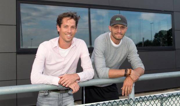 Jasper Kloos (links) en Daniel Hulkenberg (rechts).