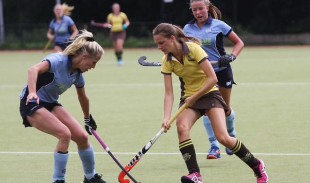 De dames van HV Spijkenisse slaagde er zondag op sportpark Groenewoud niet in om te winnen van HC Voorne.