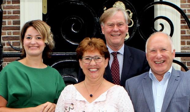 De 4 wethouders van Verkeer op Voorne Putten (rechts Hans van Lith)