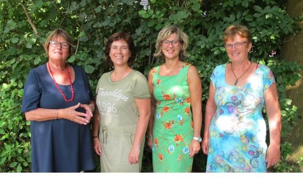 Dames van de raad: van links naar rechts: Addy Rijerkerk, Petra 't Hoen, Ada Grootenboer en Tea Both.