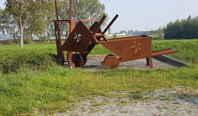 In de kern Dirksland ligt de nadruk op het verhaal van de bietenkade in relatie met het dorp. (foto: Nick Ehbel)