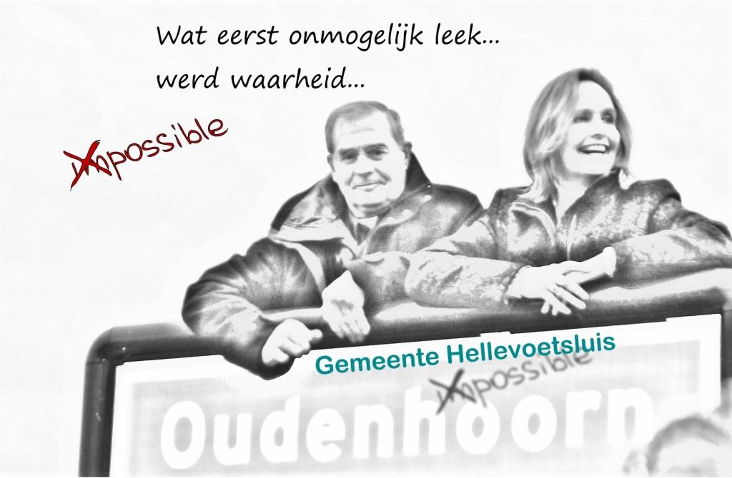 Een gelukkig huwelijk... foto Leo Blok © GrootHellevoet.nl