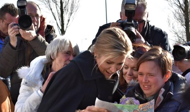 Koningin Máxima tijdens een eerder bezoek aan Westland. Foto; (WB)