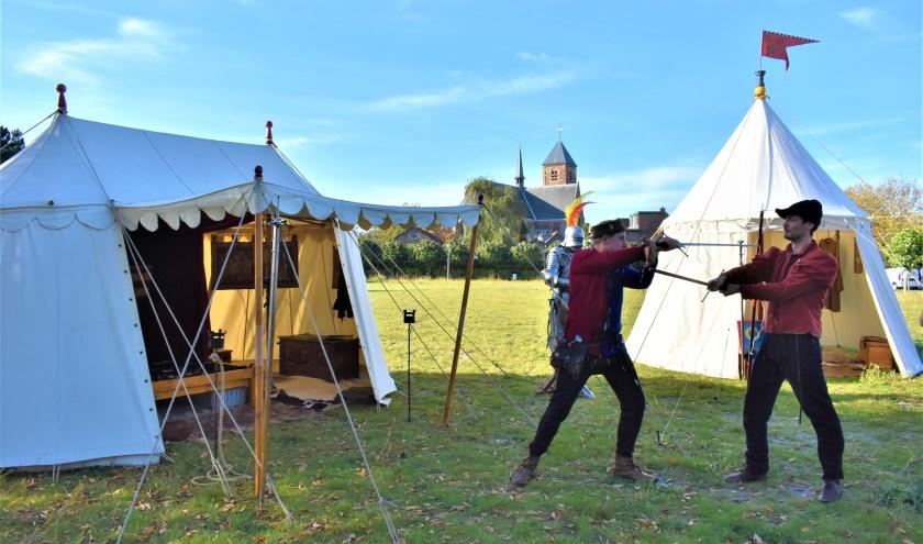 De huurlingen van Voorne hadden aan de Verdilaan hun kamp opgeslagen.