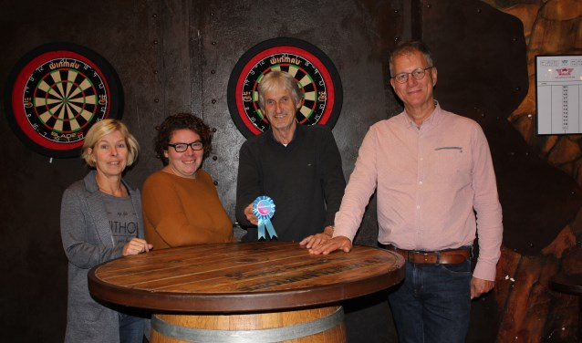 Connie Bakker, Nicole Gierman, Joop van Son en Jan de Berg.