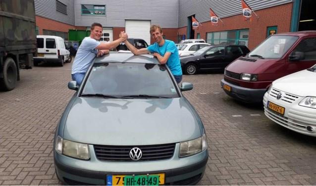 Ben van den Berg (39) en René Solleveld (32) vlak voor hun vertrek. Foto: (PR)