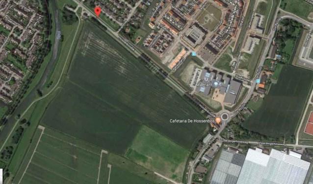Het plangebied tussen Veckdijk, Hossenbosdijk en Spui