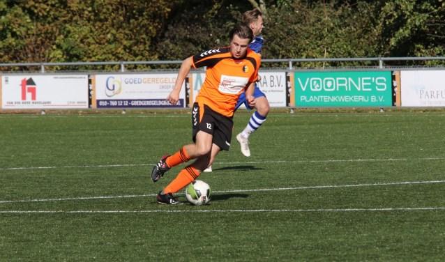 Yoeri 't Mannetje kon niet scoren voor rockanje in de thuiswedstrijd tegen WFB. * Foto: Wil van Balen.