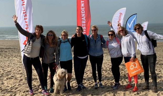 Voormalig Olympisch topschaatsster Barbara de Loor liep dit jaar samen met haar vriendinnen mee.