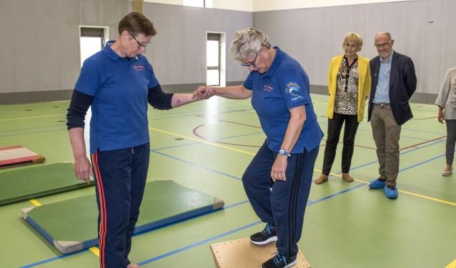 Wethouders Bert van Ravenhorst (Brielle) en Jorriena de Jongh (Westvoorne) geven het startsein (Foto: Jos Uijtdehaage)