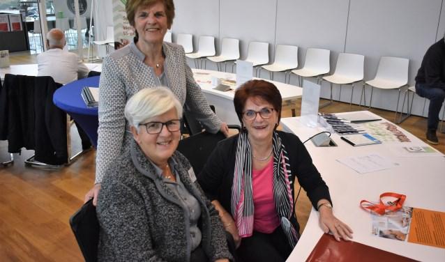 Hélène van Winden, Diane Rang en Anny Berendse willen verborgen en zwaar belaste mantelzorgers in een vroeg stadium de weg wijzen naar passende hulp. Foto: (WB)